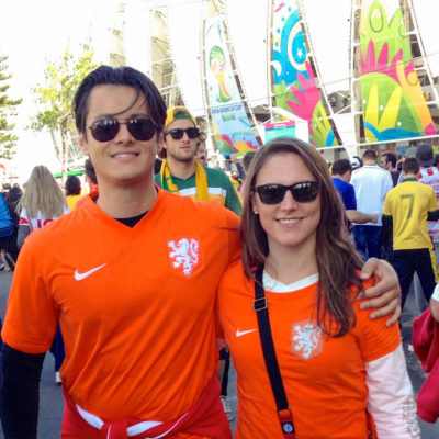 Modern Odyssey About Us Lauren and Daniel World Cup