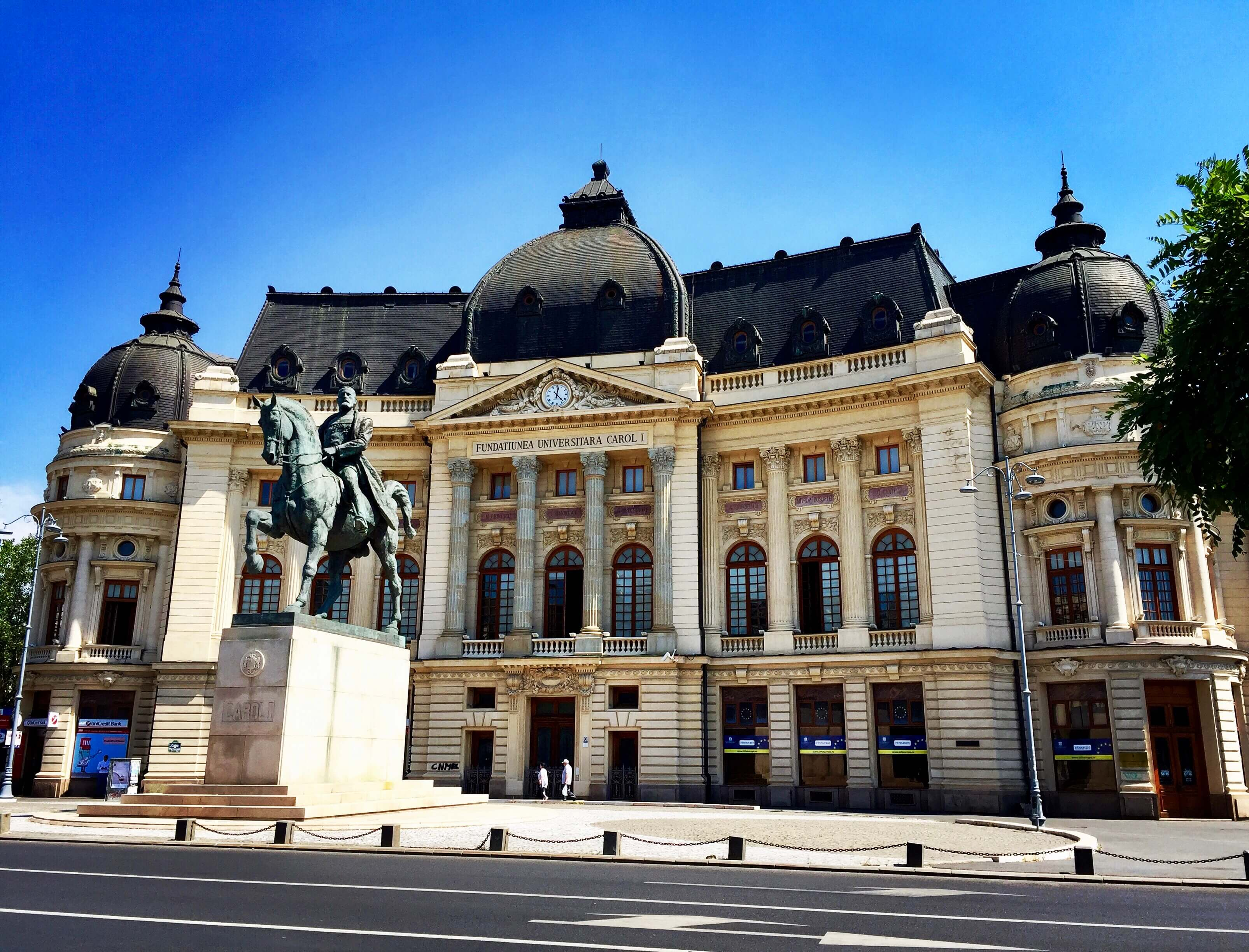 The National Museum of Art of Romania - formerly the royal palace in Revolution Square, Bucharest