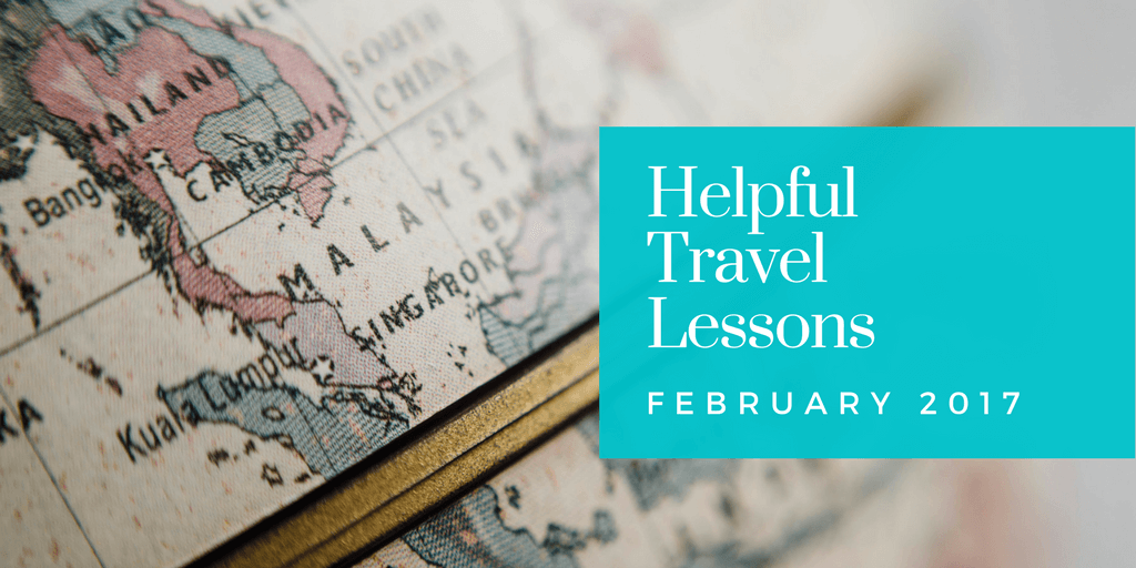 Helpful Travel Lessons