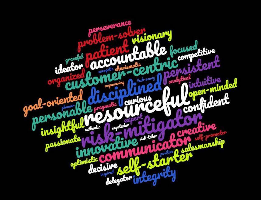 entrepreneur qualities wordcloud