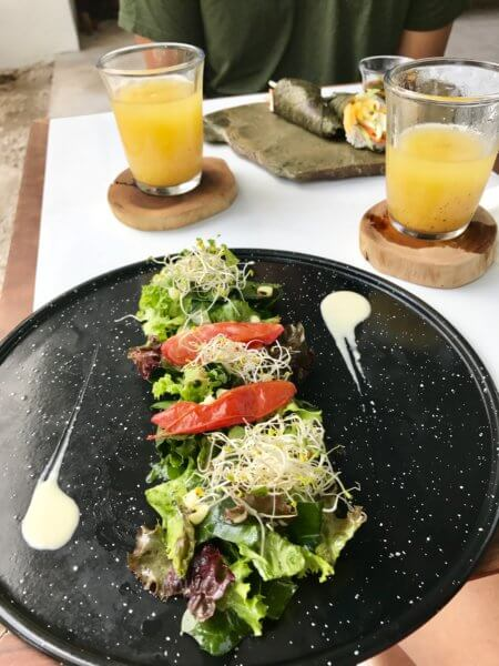 a starter dish at Elemento a cafe in Playa del Carmen
