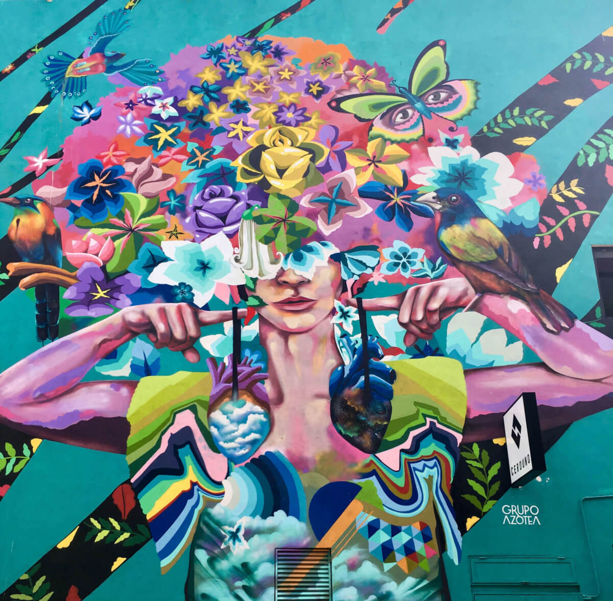 painted wall in Playa Del Carmen