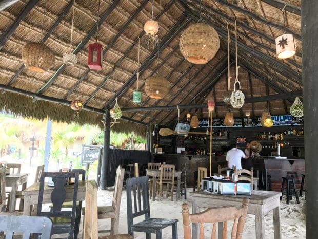 KSM Beach Club Restaurant in Xpu Ha, Mexico