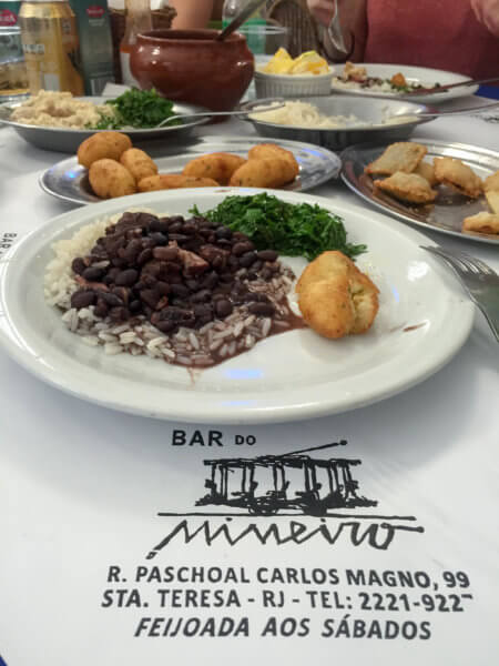dishes at Bar do Mineiro in Rio