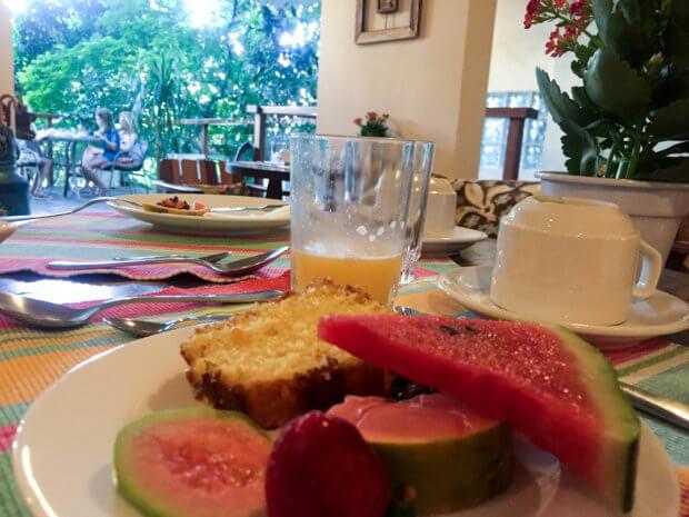 breakfast at Quinta Azul in Santa Teresa, Rio