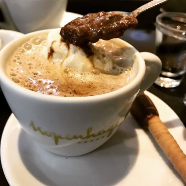 cappuccino at Kopenhagen