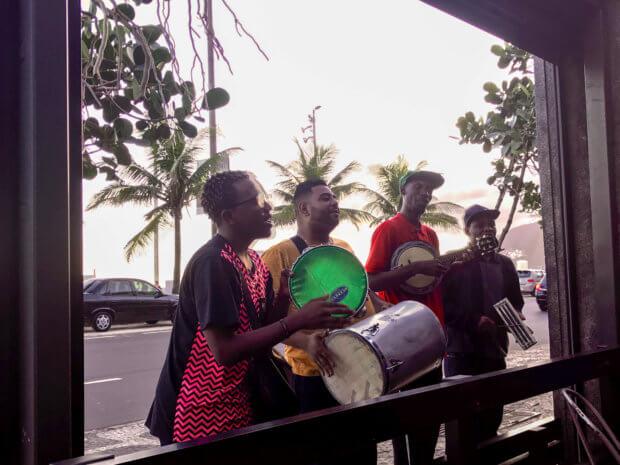 musicians playing in front of Bar Astor, Rio de Janeiro