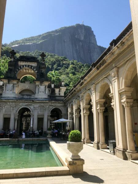 old mansion at Parque Lage in Rio
