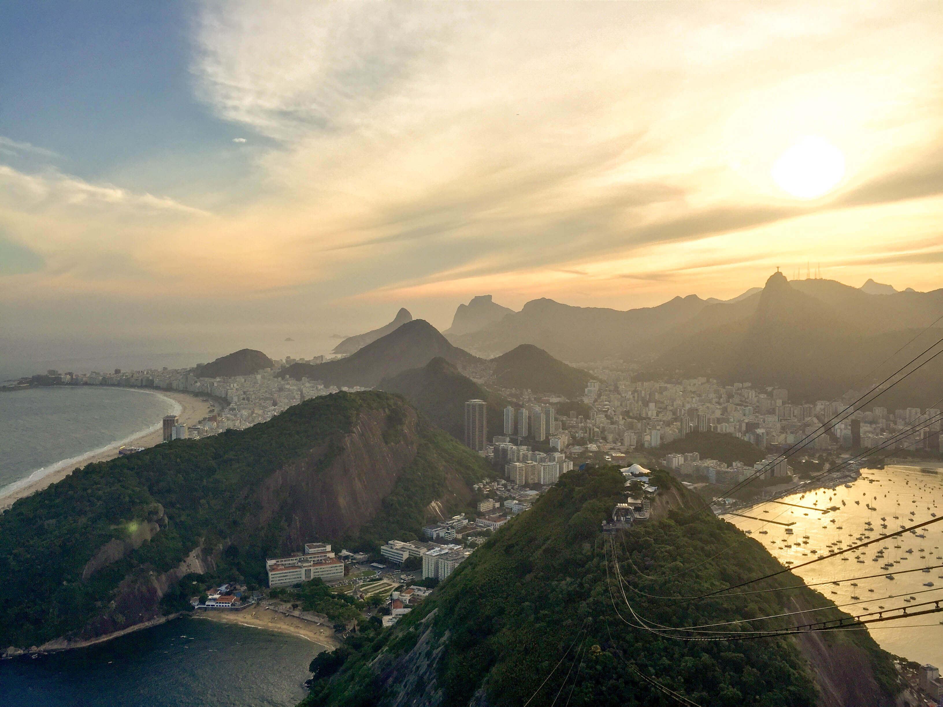 sunset from atop Pão de Açúcar