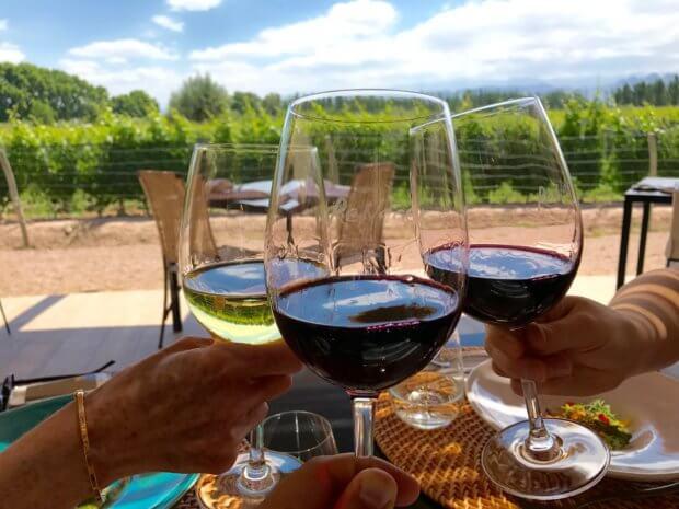 Bodega Renacer wines and restaurant setting